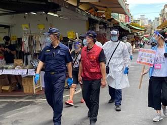 菜市場人流管控防破口 新莊警總動員近千人次