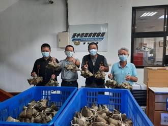 水幫魚協會贈送千顆粽 感念清水警防疫辛勞