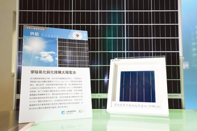 工研院開發「穿隧氧化鈍化接觸太陽電池」,具光電轉換效率高、投報率高、短期回收三大優勢。圖/工研院提供