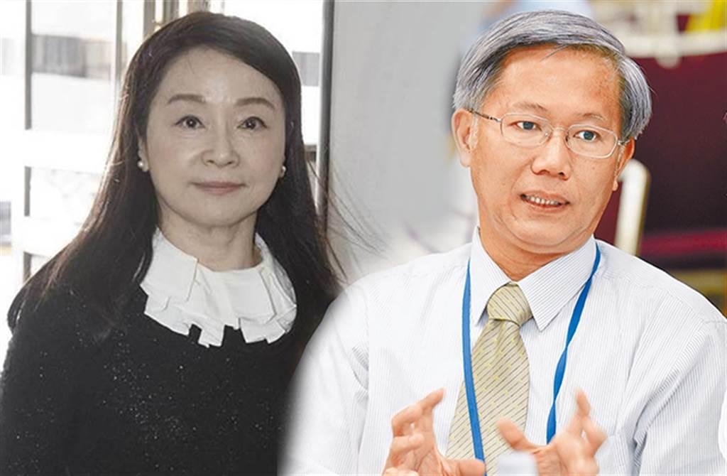 周玉蔻(左)稱違反專業倫理而請辭閃人,陳培哲說自己5月底請辭後才發表意見。(合成圖/本報系資料照)