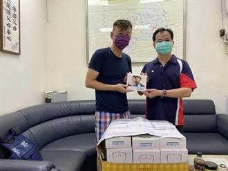 中市暖心男捐防疫面罩 免費送第一線員警