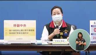 三級警戒至28日 徐榛蔚建議中央端午停止鐵公路交通運輸