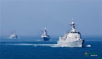 中共海軍艦隊穿越蘇拉威西海 遠征西太平洋實戰演練