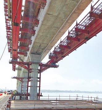 金門大橋完工近9成 縣府宣導移工防疫