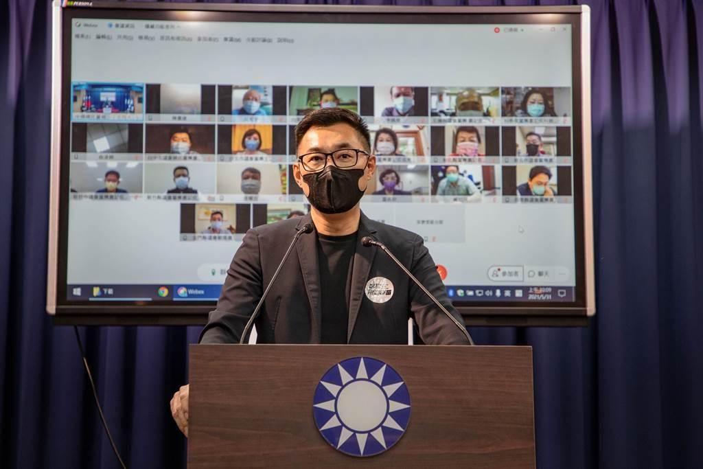 國民黨主席江啟臣今天也在臉書上表達,樂見台灣擁有自己「安全有效」國際認證的疫苗,但絕不同意讓國人做民進黨政府無疫苗可打下、沒有選擇的「白老鼠」。(報系資料照)