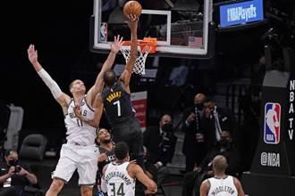 NBA》21顆三分球創紀錄轟垮公鹿 籃網2比0領先