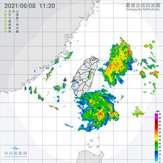 2道降雨回波移入中 這6小時雨勢最猛 2地區有大雨