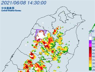 不斷更新》午後雨區擴大 14縣市豪大雨特報 雲嘉二級淹水警戒
