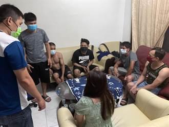 台南警查獲6移工群聚 1人發燒送醫快篩幸為陰性