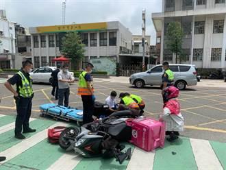 金門2外送員機車相撞 1人受傷送醫
