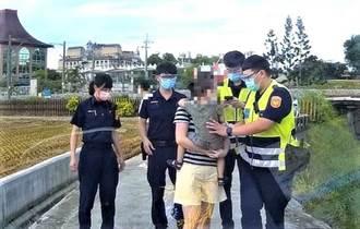 男童不慎摔落大排水溝 警察、消防人員即時救援