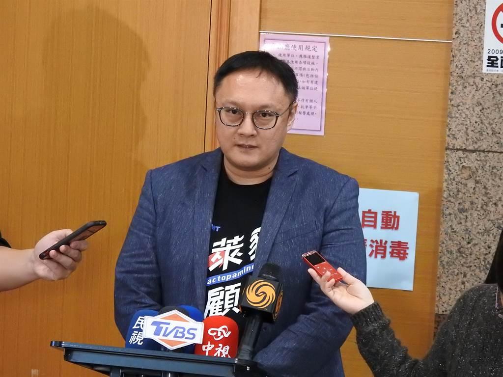 國民黨文傳會副主委鄭照新。(趙婉淳攝)