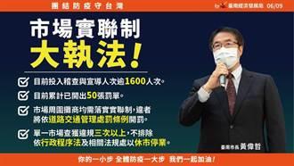 台南市場實聯制大執法 3天開出50張罰單