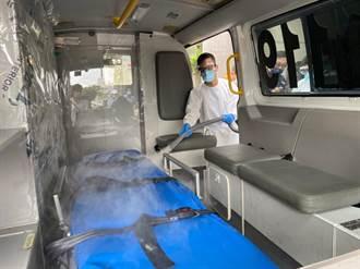 抗疫分秒必爭 趙正宇媒合業者捐次氯酸水霧化器助桃園消防