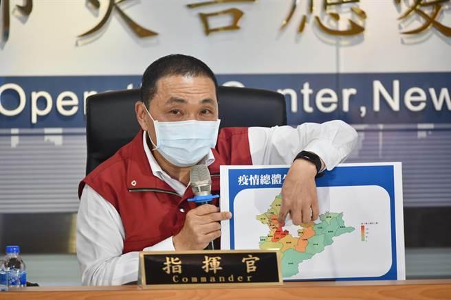 新北市長侯友宜表示,主要確診個案還是來自熱區,昨日是有史以來快篩人數最多的一次,篩了4346人。(新北市政府提供)