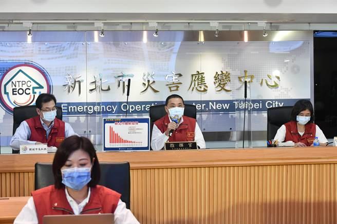 新北市府防疫會議,過去均由壹電視代表拍攝直播,即日起改由TVBS值月共訊。(新北市府提供)