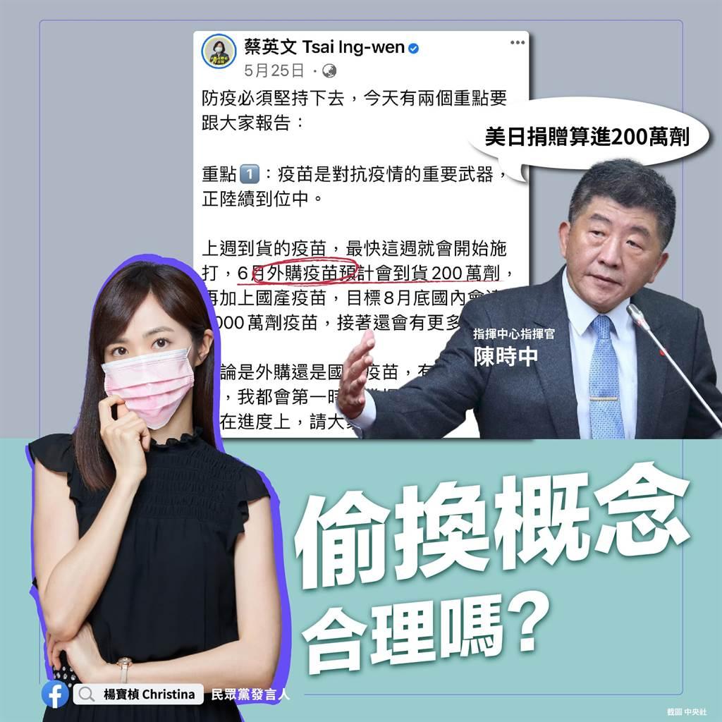 楊寶楨籲政府不要再玩弄疫苗數字。(取自楊寶楨臉書)