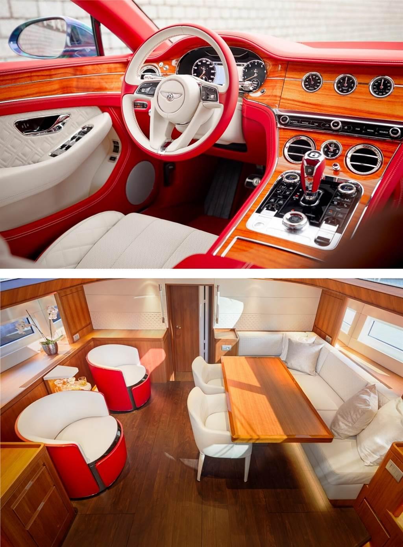 Bentley為客戶的Continental GT V8打造遊艇風格內飾