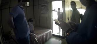 超熟女藏賓館與男客正要連結 警破門她三點全露竄逃