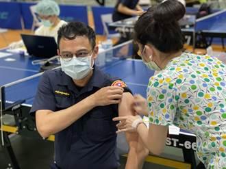 高市府將在六月全數施打完警察及第二類防疫人員