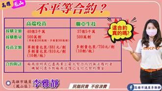 高市議員李雅靜爆料 國產疫苗採購價每劑台幣881元
