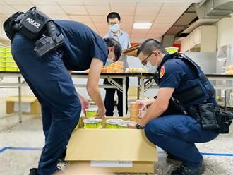 新莊鐿豐食品公司致贈「澎湃」餐盒 淡水警直呼:感恩!