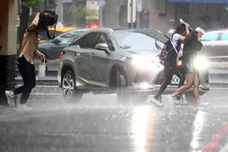 北北基16縣市大雨特報 雷雨彈一路下到晚上