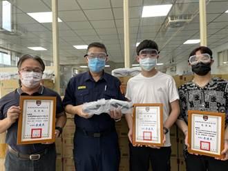 來自年輕世代的鼓勵 青年購安全面罩贈警防疫