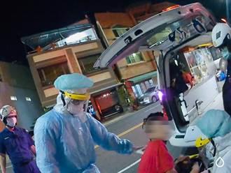 岡山男子未戴口罩進警局自曝心悸 突失控咆哮遭警強制送醫