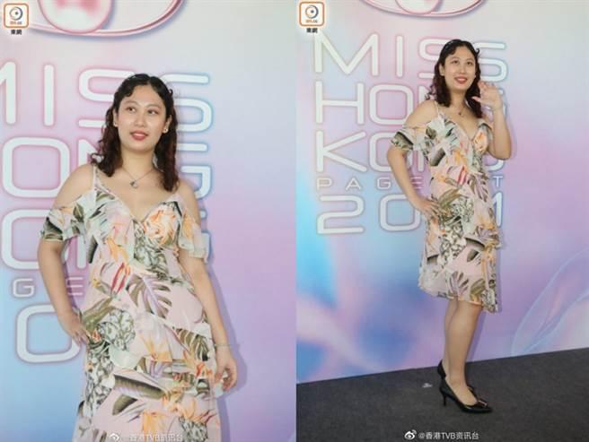 今年香港小姐選美佳麗素質惹議。(圖/ 摘自微博)