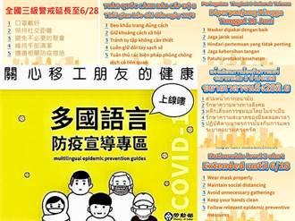 嚴防移工成為防疫破口  多國語言宣導防疫措施