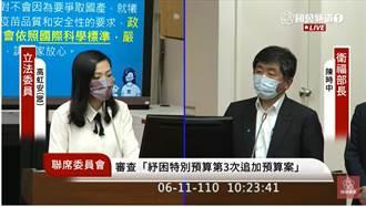 高虹安質詢「有人不喜歡」台灣代工AZ是誰 陳時中爆氣了