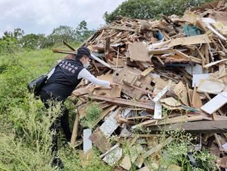 抓到了 屏東農地棄置廢木材 總重超過150噸