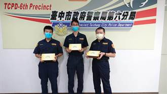 警友贈肉粽 中市警疫情期間不返鄉也能過節