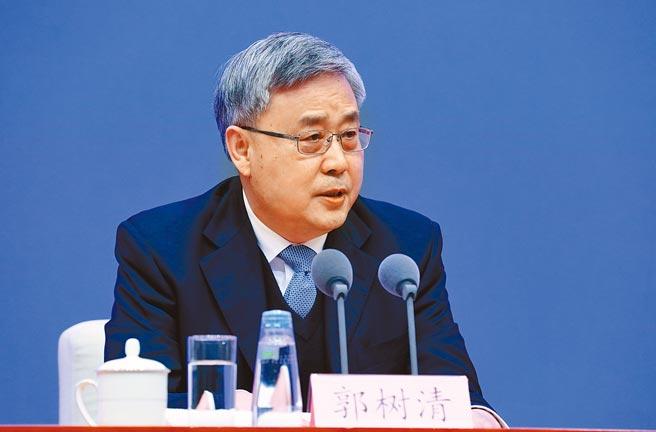 大陸銀保監會主席郭樹清表示,要確實防範金融衍生品投資風險。(中新社)