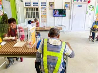 台中挺做工的人 公共工程設用餐休息區讓勞工好好吃飯