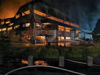 台南柳科工廠非法堆置廢棄物引發大火 環保局開罰255萬