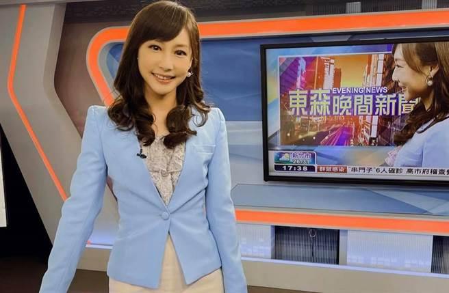 主播吳宇舒曝戴口罩播新聞一度「吸不到氧氣」。(圖/吳宇舒臉書)