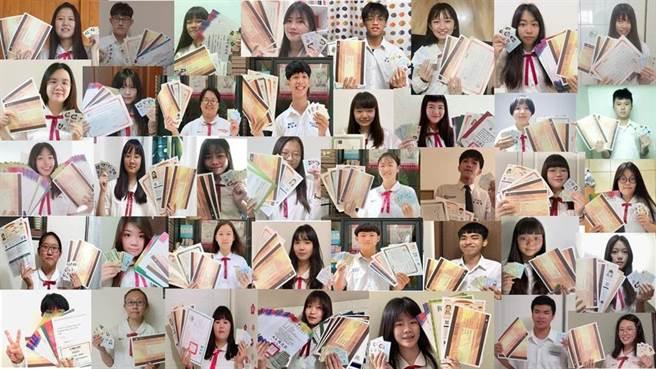 樹德家商應用英語科畢業生3年合力取得330張證照。(校方提供)