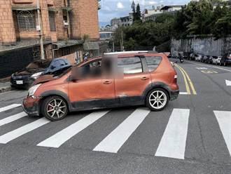 糖尿病男子餓昏頭駕車2度失控 360度迴轉撞上3汽車、1警車