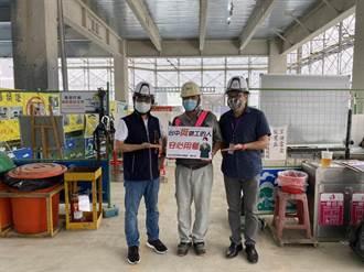 中市府挺勞工 社宅工地營造友善防疫用餐環境