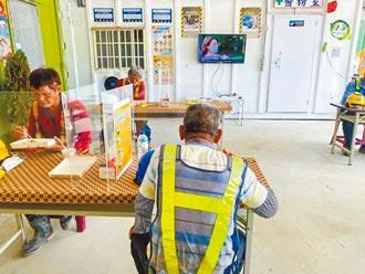 挺做工的人 中市設用餐休息區
