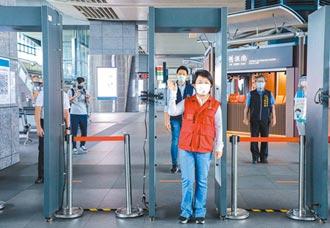 台中高鐵站人潮減 返鄉先過防疫門