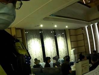 7業者躲酒店發薪 違反群聚禁令警上門開鍘
