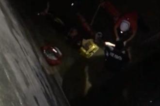 3人深夜無證入管制區垂釣 男墜6米深涵洞摔斷雙腿