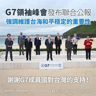 G7峰會重視台海穩定 蔡英文:克服疫情也要堅守民主自由