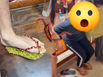 疫情愛亂跑就穿它 她實測「榴槤鞋」表情下秒大變網嚇壞