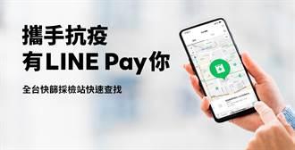 全民抗疫 LINE app/LINE Pay app推出查找「快篩採檢地圖」服務
