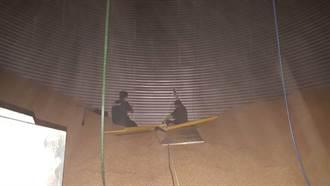 義竹農會男工跌入儲存槽 慘遭50噸玉米粒淹沒無生命跡象