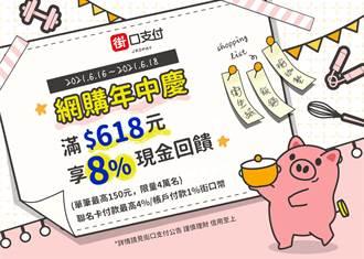 618購物節》街口支付3天限時活動加碼8%現金回饋